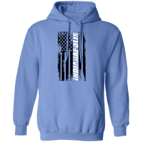 Indianapolis Indiana American Flag Pullover Hoodie