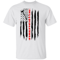 Firefighter Fireman Firewoman Fire Department American Flag T-Shirt