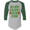 Holiday Calories Don't Count Ugly Christmas Baseball Raglan T-Shirt