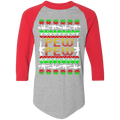 Pew Pew Rifle Firearm Ugly Christmas Baseball Raglan T-Shirt