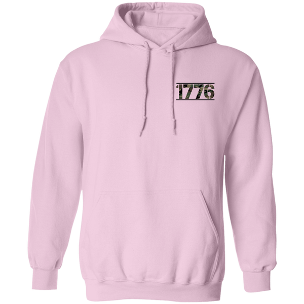 1776 American Bald Eagle  Double Sided Pullover Hoodie