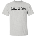 Coffee & Cats Funny T-Shirt