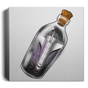 Space Shuttle in a Bottle Square Canvas 1.5in Frame