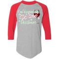 I'm Dreaming of a Wine Christmas Ugly Christmas Baseball Raglan T-Shirt