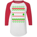 I Paused A Game To Be Here Ugly Christmas Baseball Raglan T-Shirt