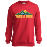 Boys' Take a Hike Camping Hiking Nature Crewneck Sweatshirt