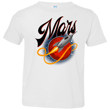 Toddler Space Mars Space Ship Old Style Jersey T-Shirt