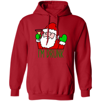 Santa I'm Drinking Funny Ugly Christmas Pullover Hoodie