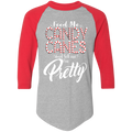 Feed Me Candy Canes and tell me I'm Pretty Ugly Christmas Baseball Raglan T-Shirt