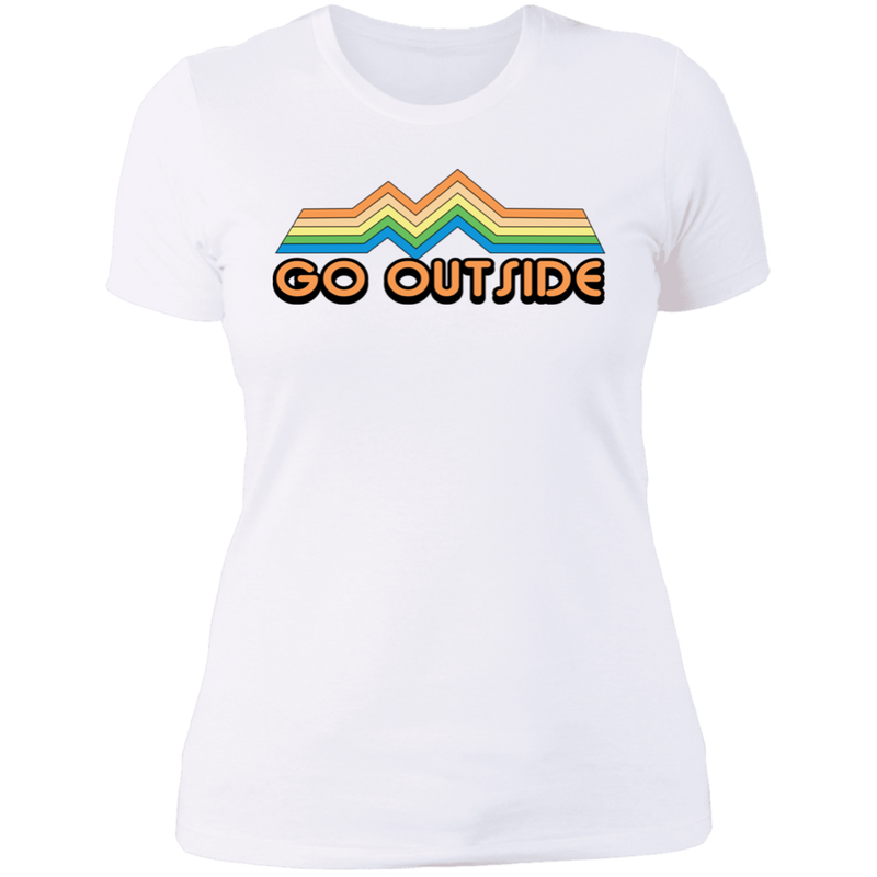 Go Outside Camping Nature Bright Women's T-Shirt