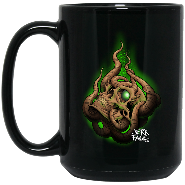 Drowning Skull with Tentacles 15 oz. Black Coffee Mug