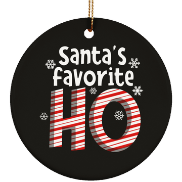Santa's Favorite Ho Funny Christmas Ceramic Ornament