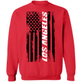 Los Angeles California American Flag Crewneck Sweatshirt