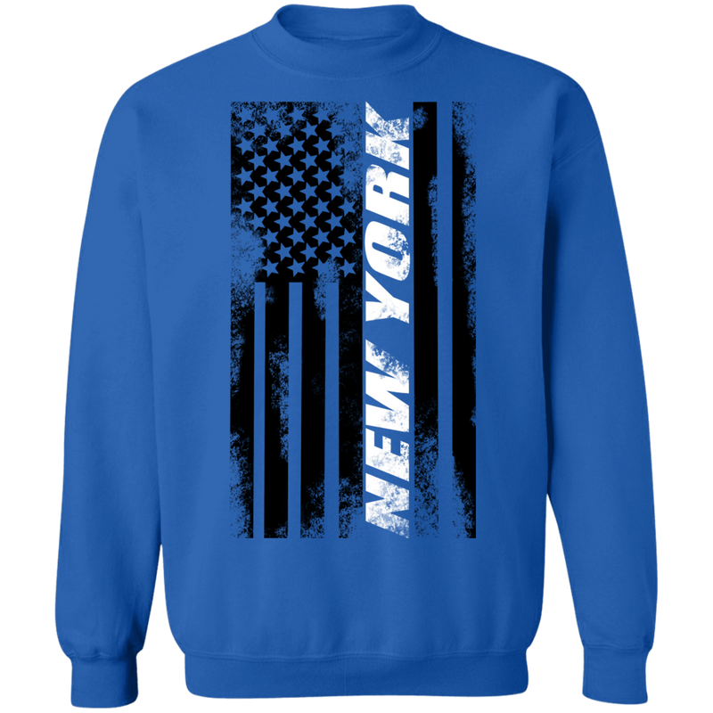 New York New York American Flag Crewneck Sweatshirt