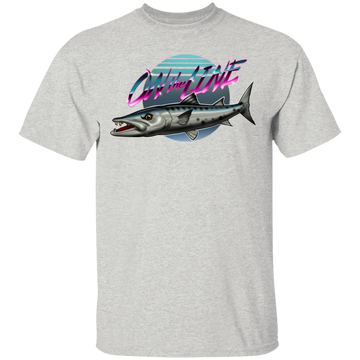 Great Barracuda Fish On The Line Saltwater T-Shirt