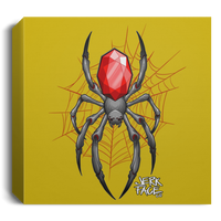 Jewel Spider Web Square Canvas 1.5in Frame