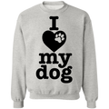 I Love My Dog Crewneck Pullover Sweatshirt