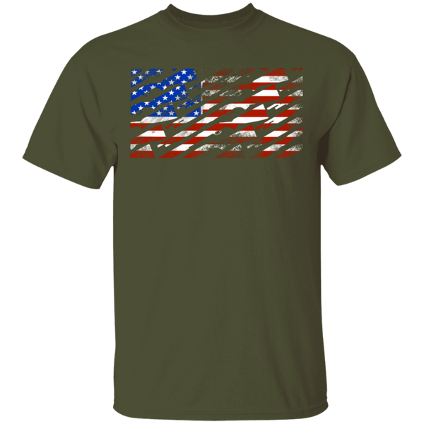 Shotgun Firearm American Flag T-Shirt