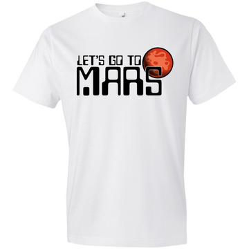 Youth Space Lets Go to Mars Lightweight T-Shirt