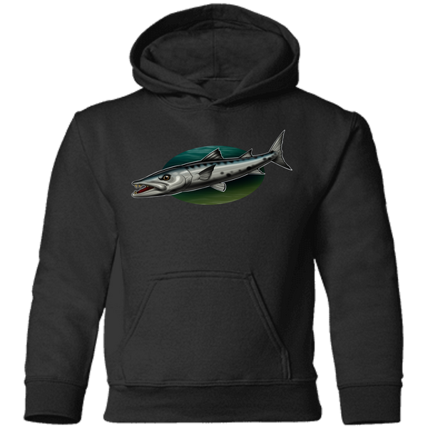 Toddler Great Barracuda Saltwater Fish Pullover Hoodie