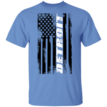 Detroit Michigan American Flag T-Shirt