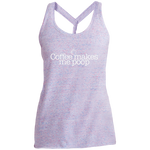 Coffee Makes Me Poop Funny Women's Cosmic Twist Back Tank