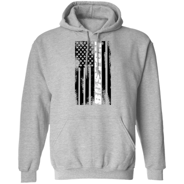 Boston Massachusetts American Flag Pullover Hoodie