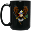 1776 Eagle Revolution 15 oz. Black Coffee Mug