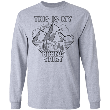 This Is My Hiking Shirt Nature Camping Long Sleeve T-Shirt