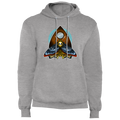 Deaths Head Moth on a Ouija Board Planchette Pullover Hoodie