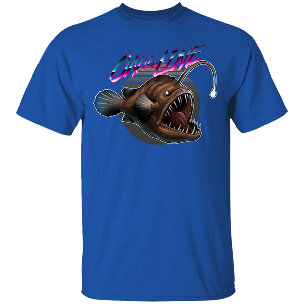 Angler Fish On The Line Saltwater T-Shirt