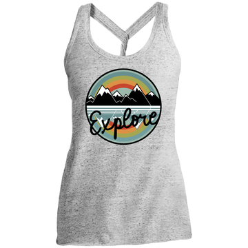 Explore Mountain Camping Nature Women's Cosmic Twist Back Tank
