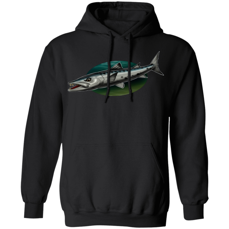 Great Barracuda Saltwater Fish Ocean Pullover Hoodie