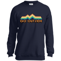 Boys' Go Outside Camping Nature Bright Crewneck Sweatshirt