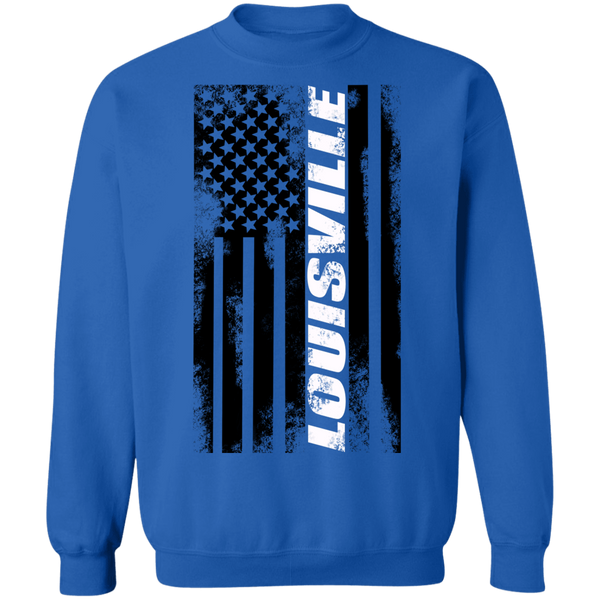 Louisville Kentucky American Flag Crewneck Sweatshirt