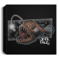 Angler Fish Saltwater Deluxe Square Canvas 1.5in Frame
