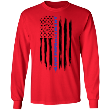 Law Enforcement Deputy Sheriff Police Officer Cop American Flag Long Sleeve T-Shirt