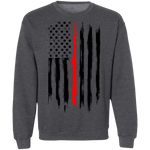 Firefighter Thin Red Line American Flag Crewneck Sweatshirt