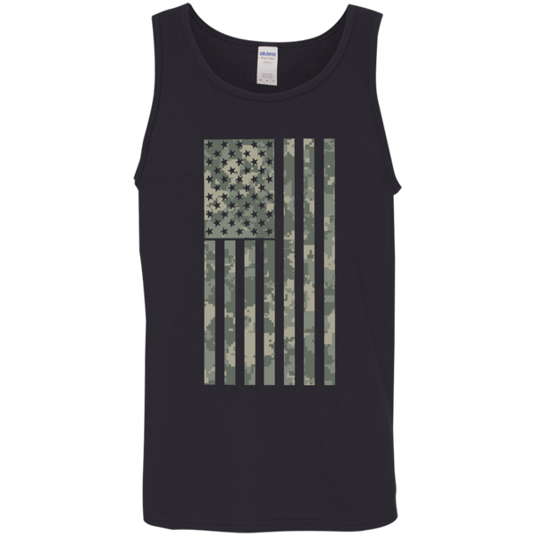 Camo Green American Flag Tank Top