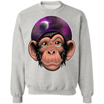 Space Chimp Astronaut Crewneck Pullover Sweatshirt