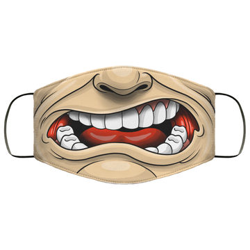 Yelling Crazy Open Mouth Funny Face Mask