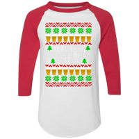 It's The Most Wonderful Time For A Beer Ugly Christmas Baseball Raglan T-Shirt
