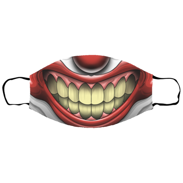 Small Scary Clown Mouth Face Mask