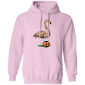 Mummy Flamingo Halloween Trick or Treat Pullover Hoodie