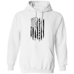 Fishing Saltwater Fresh Water Fish American Flag Pullover Hoodie