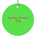 Spreading Christmas Beer Funny Christmas Ceramic Ornament