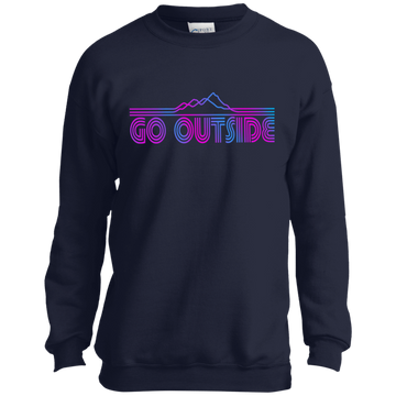 Boys' Go Outside Camping Nature Crewneck Sweatshirt