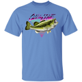 Wide Mouth Bass On The Line Saltwater Fish T-Shirt