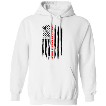 Firefighter Fireman Firewoman Fire Department American Flag Pullover Hoodie