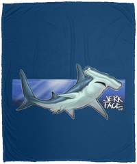 Hammerhead Shark Saltwater Plush Fleece Blanket - 50x60